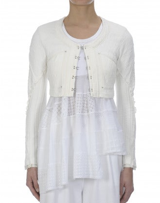 SINBAD: Cream cropped knit bolero