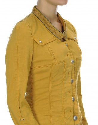 TIP OFF: Marigold cotton and lyocell fitted jacket
