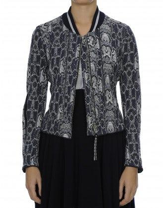 QUIZ: Python jacquard zip front jacket