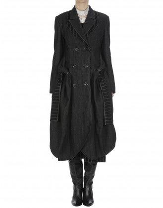 LAWLESS: Cappotto gessato e spigato grigio