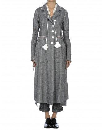 BOULEVARD: Cappotto grigio con gessatura in lurex
