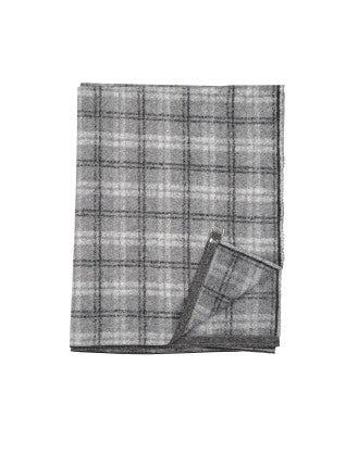 BORA: Stola quadrettata nera, grigio e bianco