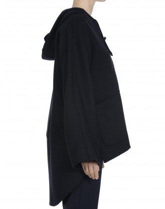 HOODWINK: Maglia-poncho con cappuccio in cashmere