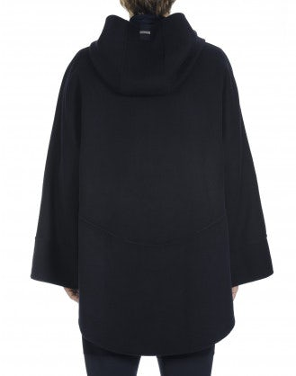 HOODWINK: (Unisex) Hooded smock top in cashmere