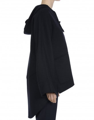 HOODWINK: Hooded smock top in cashmere