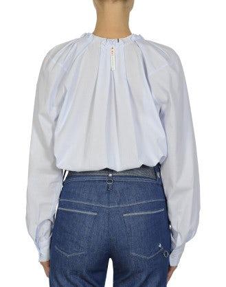 FLUTTER: Raglan sleeve stripe shirt