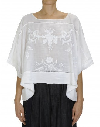 "KISMET: Embroidered ""poncho"" style top"