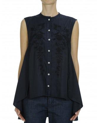 IDYLLIC: Long flared out sleeveless shirt