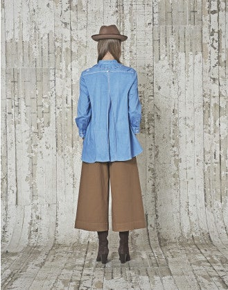 PILGRIM: Camicia in chambray azzurro con cuciture multiple