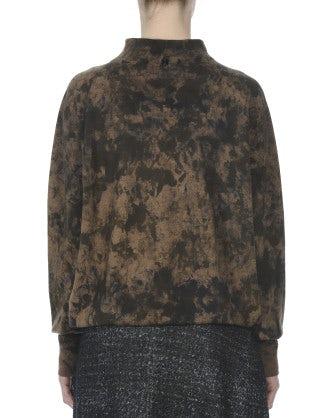 LICHEN: Maglia camouflage color senape