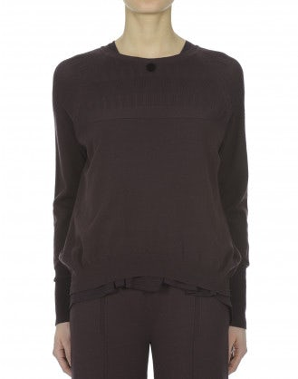 TAIGA: Relaxed fit mulberry sweater