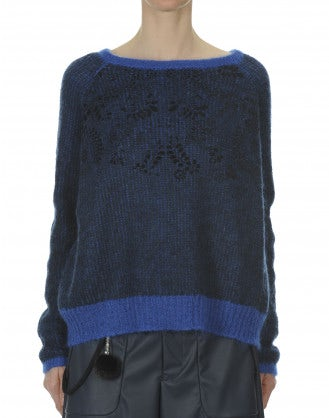 SALON: Blue-marine mohair mix jumper