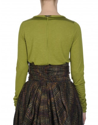 WORTHWHILE: Maglia a maniche lunghe verde oliva