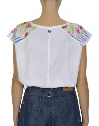 MIRTH: Cap sleeve top in plain and floral