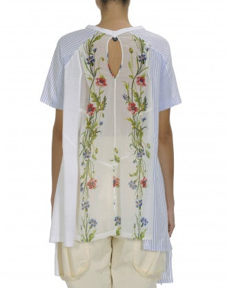 ENCHANT: Multi-panel top in floral and stripe