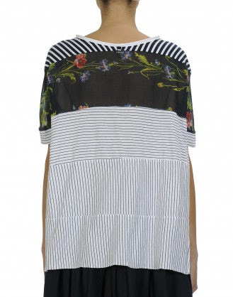 EXHIBIT: Multi-panel top in floral and stripe