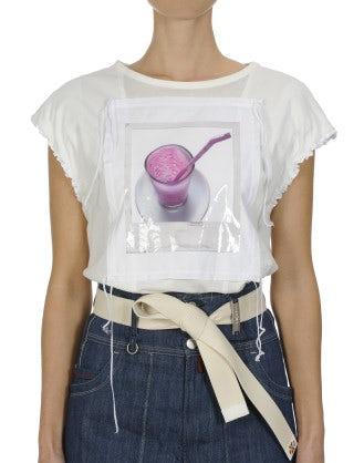 IRONIC: Laminated photo-print t-shirt