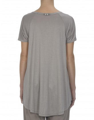 GUSH: Taupe viscose jersey tee