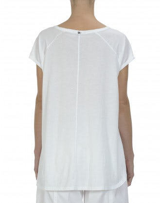 SLY: White cotton patch pocket tee