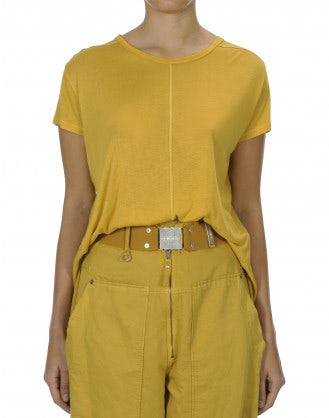 PROPOSE: Yellow super soft modal and silk satin t-shirt