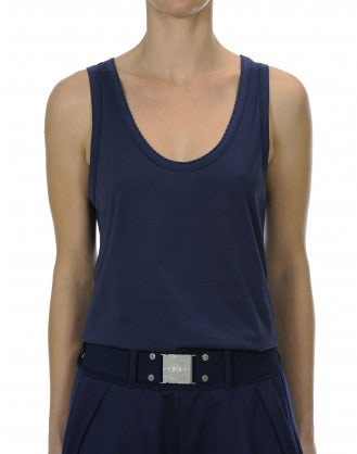 POLITE: Singlet with scallop edge neck