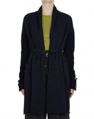 DECORUM: Cardigan con collo a scialle blu navy