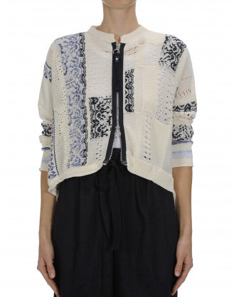 ADORE: Variegated knit cardigan