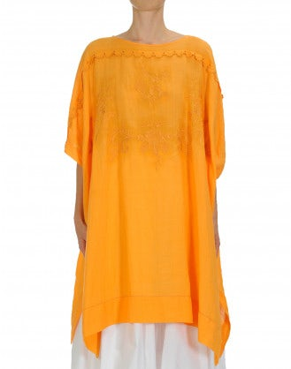 "FICTION: Embroidered ""poncho"" style tunic-dress"