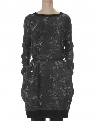 IN FAVOUR: Grey smoke and florals tunic dress