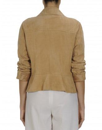 REBEL: Sand suede biker style jacket