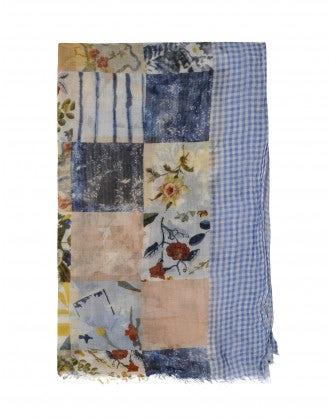 RAPTURE: Sciarpa patchwork in cotone