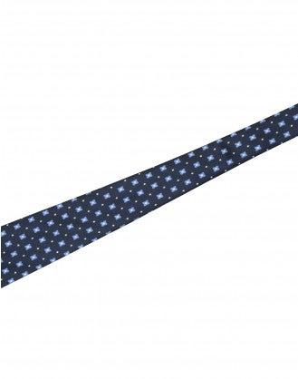 TRANSFIX: Cintura annodabile in seta blu, nera e avorio