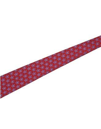 TRANSFIX: Cintura annodabile in seta rossa, blu e avorio