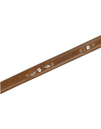 TRUSTY: Cintura con borchia a fiore argentata