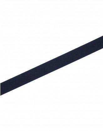 NOTCH: Cintura elasticizzata blu navy con chiusura in pelle