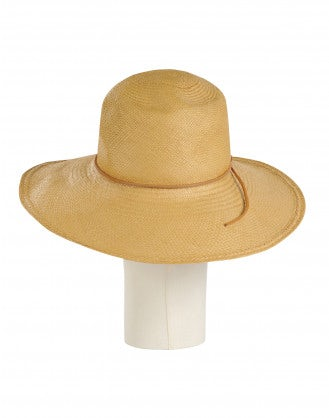 ALLURE: Natural straw panama hat