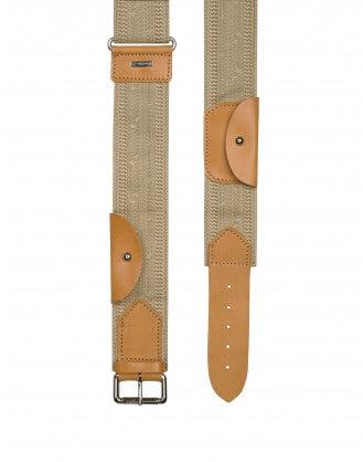HEIST: Cintura in tessuto e pelle in stile safari