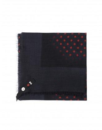 POKER: Sciarpa rossa e blu a pois