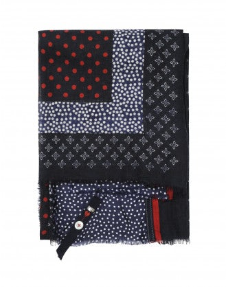 FANFARE: Wool multi dot scarf