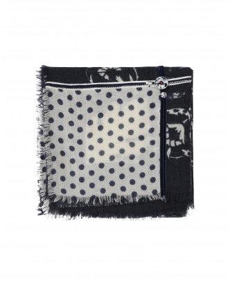 CLAVIER: Sciarpa decorata con pannelli multipli