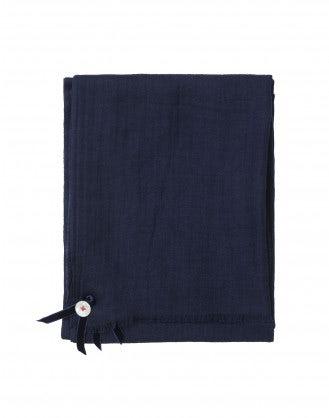 SOLSTICE: Navy wool drape scarf