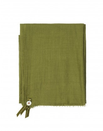 SOLSTICE: Sciarpa in lana verde salvia
