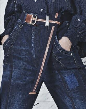 TETHER: Cintura in pelle e tessuto