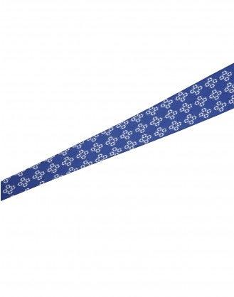 "TRANSFIX: Blue and ivory ""Necktie"" belt"