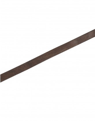 HULA: Dark brown belt with spade shape buckle
