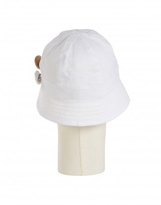 ENDORSE: White tech twill sun hat