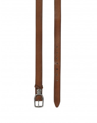 STRUP: Cintura in pelle con passante in metallo