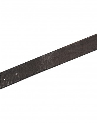 CANTLE: Cintura in pelle anticata, marrone scuro