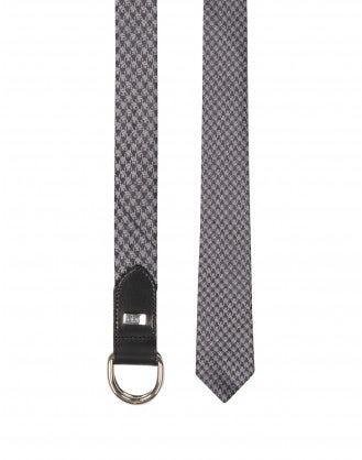 PELHAM: Cintura cravatta grigia in pura seta