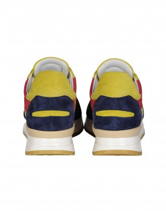 FRANTIC: Navy, red and yellow sneakers